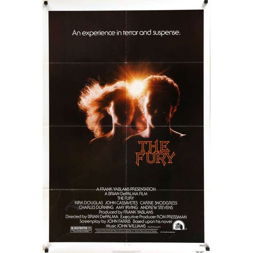 FURY US Movie Poster 27x41 - 1978 - Brian De Palma, Kirk Douglas -