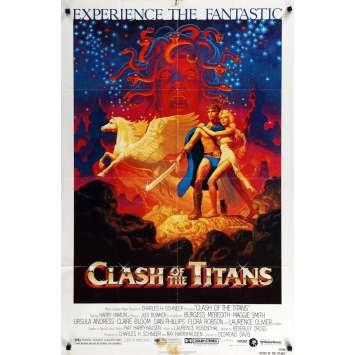 LE CHOC DES TITANS Affiche de film 69x104 - 1981 - Laurence Oliver, Ray Harryhausen