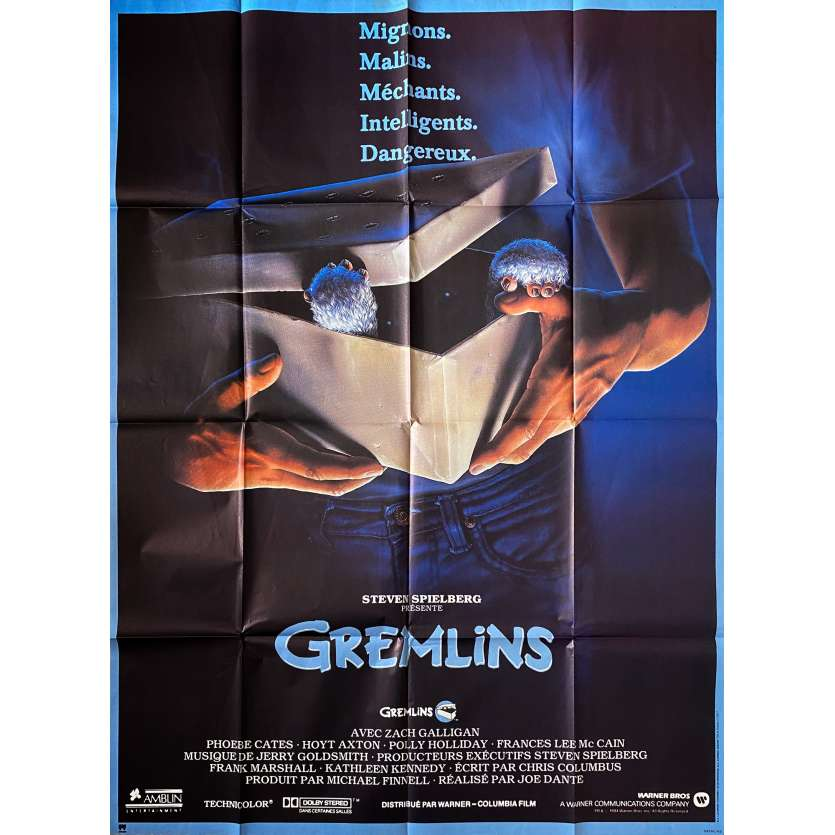 GREMLINS Affiche de film - 120x160 cm. - 1984 - Zach Galligan, Joe Dante