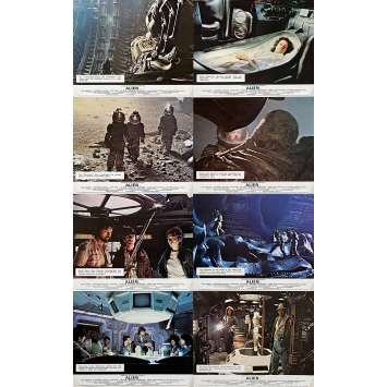 ALIEN Original Lobby Cards x8 - 8x10 in. - 1979 - Ridley Scott, Sigourney Weaver