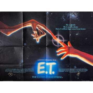 E.T. THE EXTRA-TERRESTRIAL Original Movie Poster - 30x40 in. - 1982 - Steven Spielberg, Dee Wallace