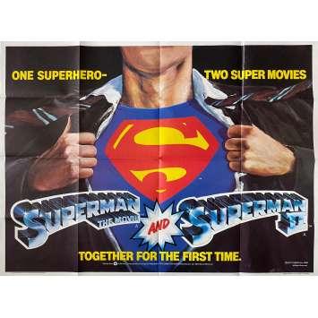 SUPERMAN / SUPERMAN II Original Movie Poster - 30x40 in. - 1980 - Richard Lester, Christopher Reeve