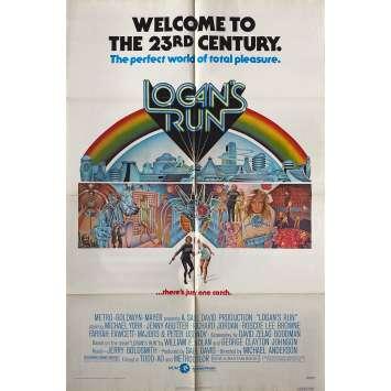 LOGAN'S RUN Original Movie Poster - 27x41 in. - 1977 - Donald Moffat, Gregory Harrison