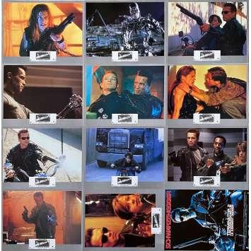 TERMINATOR 2 Photos de film x11/Synopsis - 21x30 cm. - 1992 - Arnold Schwarzenegger, James Cameron