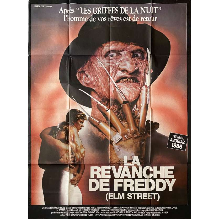 LA REVANCHE DE FREDDY Affiche de film - 120x160 cm. - 1985 - Robert Englund, Jack Sholder