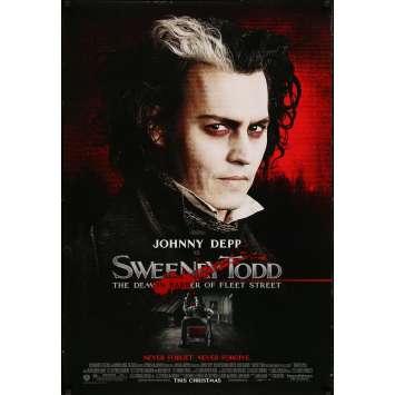 SWEENEY TODD Original Movie Poster - 27x41 in. - 2007 - Tim Burton, Johnny Depp