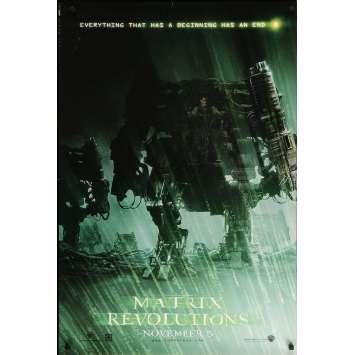 MATRIX REVOLUTION Original Movie Poster Robot - 27x41 in. - 2003 - Wachowski Brothers, Keanu Reeves