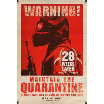 28 WEEKS LATER Original Movie Poster - 27x41 in. - 2007 - Juan Carlos Fresnadillo, Robert Carlyle