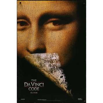 DA VINCI CODE Original Movie Poster - 27x41 in. - 2006 - Ron Howard, Tom Hanks, Audrey Tautou