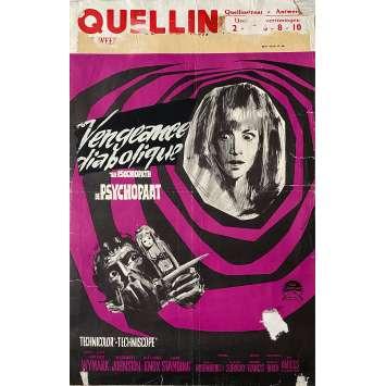 THE PSYCHOPATH Original Movie Poster - 14x21 in. - 1966 - Freddie Francis, Patrick Wymark