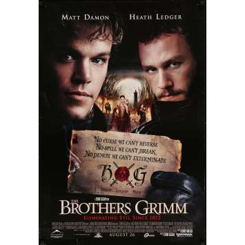 LES FRERES GRIMM Affiche de film - 69x104 cm. - 2005 - Matt Damon, Heath Ledger, Terry Gilliam