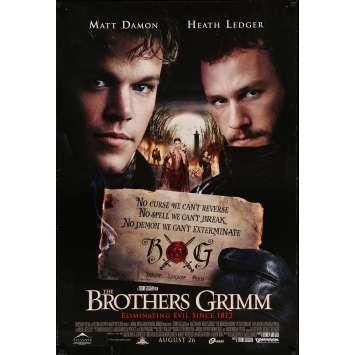 THE BROTHERS GRIMM Original Movie Poster - 27x41 in. - 2005 - Terry Gilliam, Matt Damon, Heath Ledger