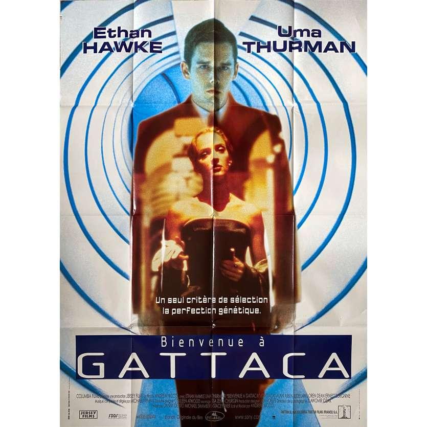 BIENVENUE A GATTACA Affiche de film - 120x160 cm. - 1997 - Ethan Hawke, Andrew Niccol