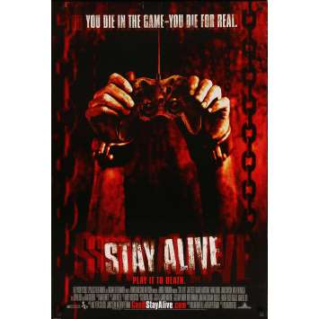 STAY ALIVE Original Movie Poster - 27x41 in. - 2006 - William Brent Bell, Jon Foster