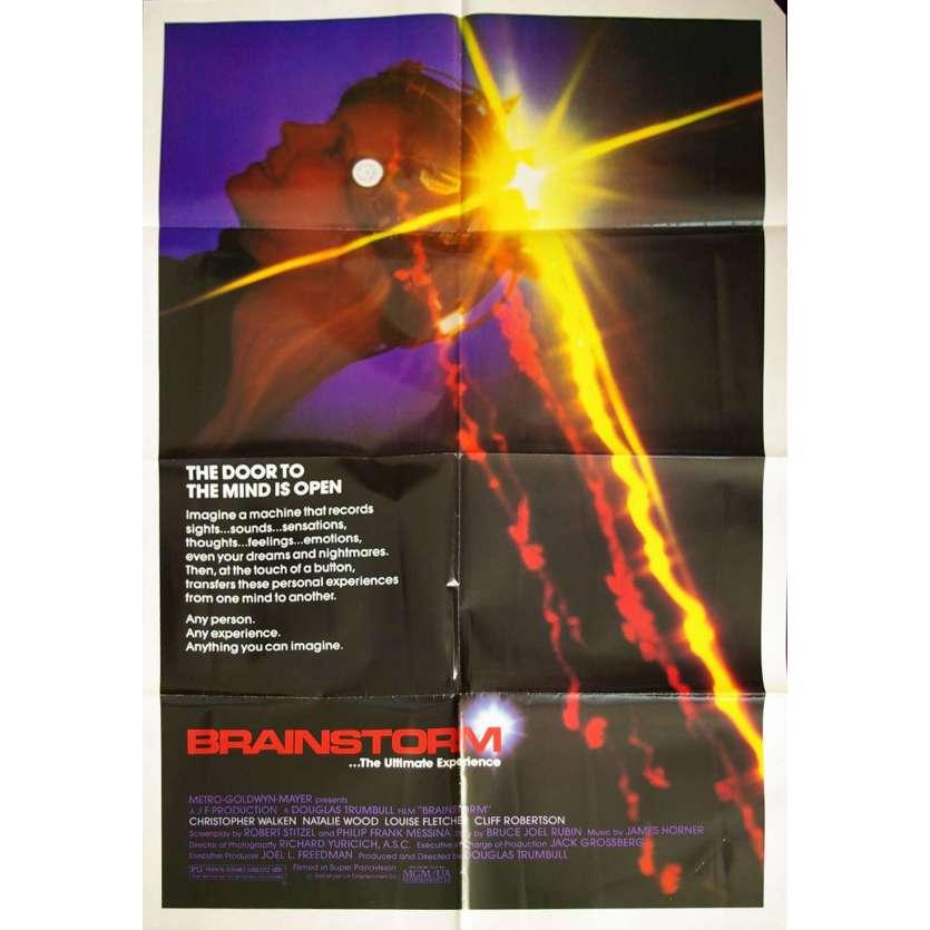 BRAINSTORM Affiche US '83 Douglas Trumbull, Christopher Walken, Vintage Movie Poster