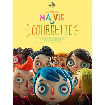 MY LIFE AS COURGETTE Movie Poster 15x21 in. - 2016 - Claude Barras, Gaspard Schlatter