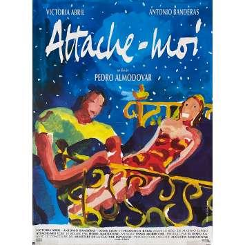 ATTACHE MOI Affiche de film - 40x60 cm. - 1989 - Victoria Abril, Antonio Banderas, Pedro Almodovar