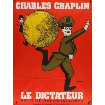 LE DICTATEUR Affiche de film - 120x160 cm. - 1940 - Paulette Goddard, Charles Chaplin