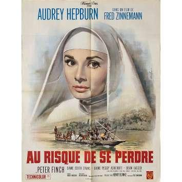 AU RISQUE DE SE PERDRE Affiche de film - 60x80 cm. - 1959 - Audrey Hepburn, Fred Zinnemann