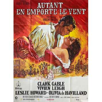 AUTANT EN EMPORTE LE VENT Affiche de film - 120x160 cm. - 1939 - Clark Gable, Victor Flemming