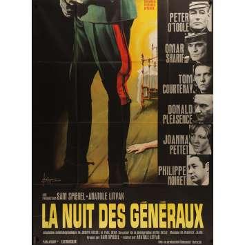 LA NUIT DES GENERAUX Affiche de film - 120x160 cm. - 1967 - Peter O'Toole, Anatole Litvak
