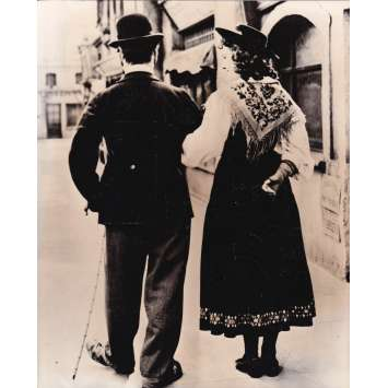 LE DICTATEUR Photo de presse P-X2 - 20x25 cm. - 1940 - Paulette Goddard, Charles Chaplin