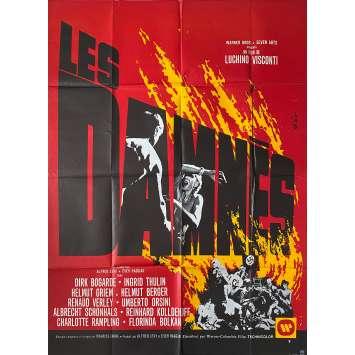 LES DAMNES Affiche de film - 120x160 cm. - 1969 - Dirk Bogarde, Luchino Visconti