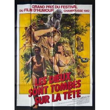 LES DIEUX SONT TOMBES SUR LA TETE Affiche de film - 120x160 cm. - 1980 - Nixau, Jamie Uys