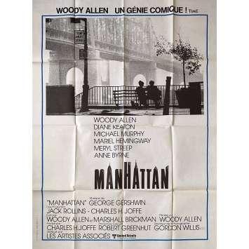 MANHATTAN Affiche de film - 120x160 cm. - 1979 - Diane Keaton, Woody Allen