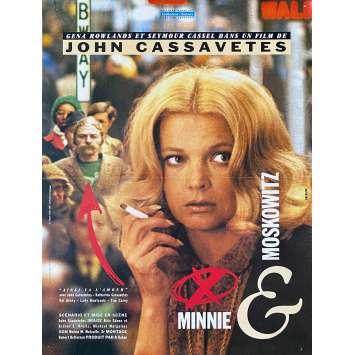 MINNIE ET MOSKOWITZ Affiche de film - 40x60 cm. - 1971 - Gena Rowlands, Seymour Cassel, John Cassavetes