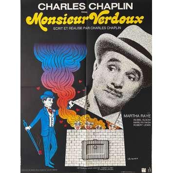 MONSIEUR VERDOUX Affiche de film - 60x80 cm. - 1947 - Charlie Chaplin, Charlie Chaplin