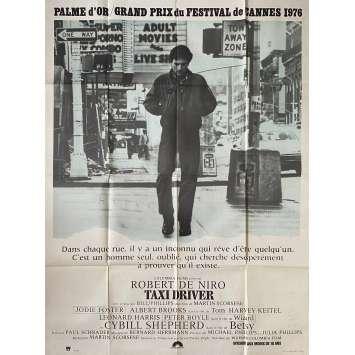 TAXI DRIVER Original Movie Poster - 47x63 in. - 1976 - Martin Scorsese, Robert de Niro