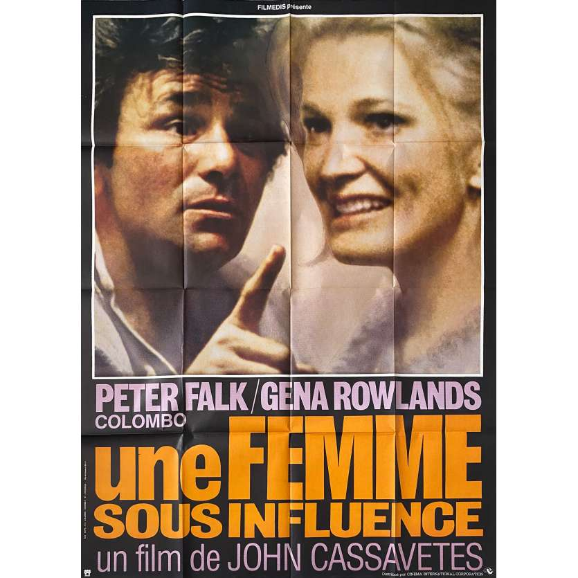 UNE FEMME SOUS INFLUENCE Affiche de film - 120x160 cm. - 1974 - Gena Rowlands, John Cassavetes