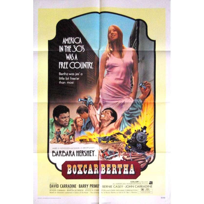 BOXCAR BERTHA Affiche originale US 1972 Martin Scorsese, Barbara Hershey