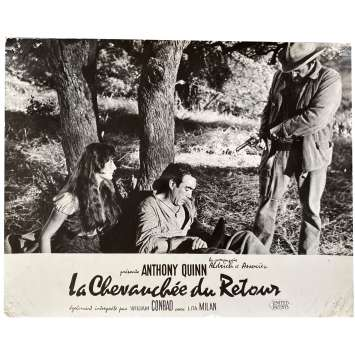 THE RIDE BACK Original Lobby Card N01 - 10x12 in. - 1957 - Allen H. Miner, Anthony Quinn