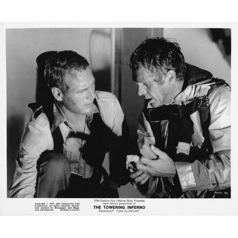 LA TOUR INFERNALE Photo de presse N26 - 20x25 cm. - 1974 - Steve McQueen, John Guillermin
