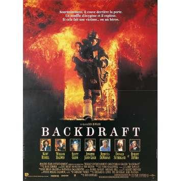 BACKDRAFT Original Movie Poster - 15x21 in. - 1991 - Ron Howard, Kurt Russel