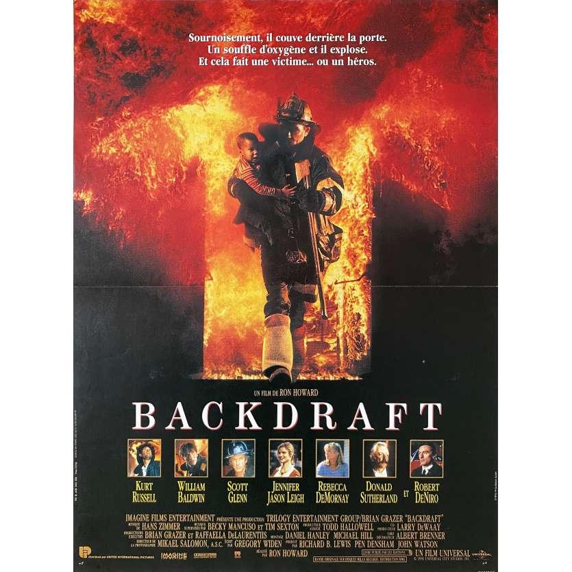 BACKDRAFT Affiche de film - 40x60 cm. - 1991 - Kurt Russel, Ron Howard