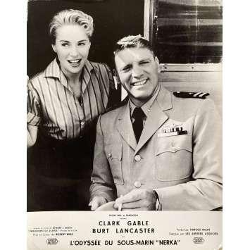 RUN SILENT RUN DEEP Original Lobby Card N01 - 10x12 in. - 1958 - Robert Wise, Burt Lancaster, Clark Gable