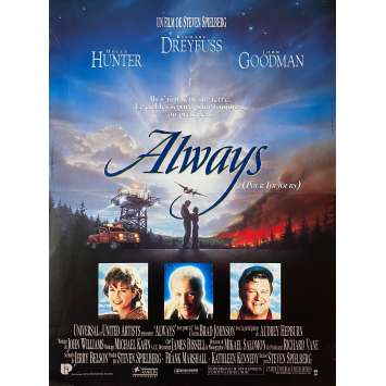 ALWAYS Original Movie Poster - 15x21 in. - 1989 - Steven Spielberg, Richard Dreyfuss