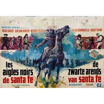 LES AIGLES NOIRS DE SANTA FE Affiche de film - 60x80 cm. - 1965 - Brad Harris, Ernst Hofbauer