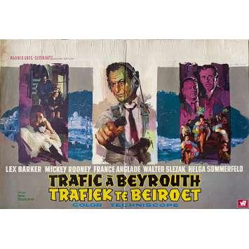 TRAFIC A BEYROUTH Affiche de film - 60x80 cm. - 1965 - Lex Baker, Peter Bezencenet