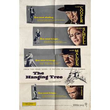 THE HANGING TREE Original Movie Poster - 27x41 in. - 1959 - Delmer Daves, Gary Cooper
