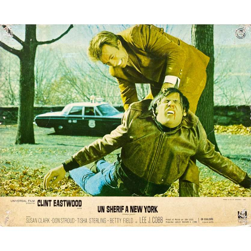 UN SHERIF A NEW YORK Photo de film N01 - 24x30 cm. - 1968 - Clint Eastwood, Don Siegel