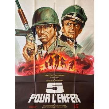 FIVE FOR HELL Original Movie Poster - 47x63 in. - 1969 - Gianfranco Parolini, Klaus Kinski