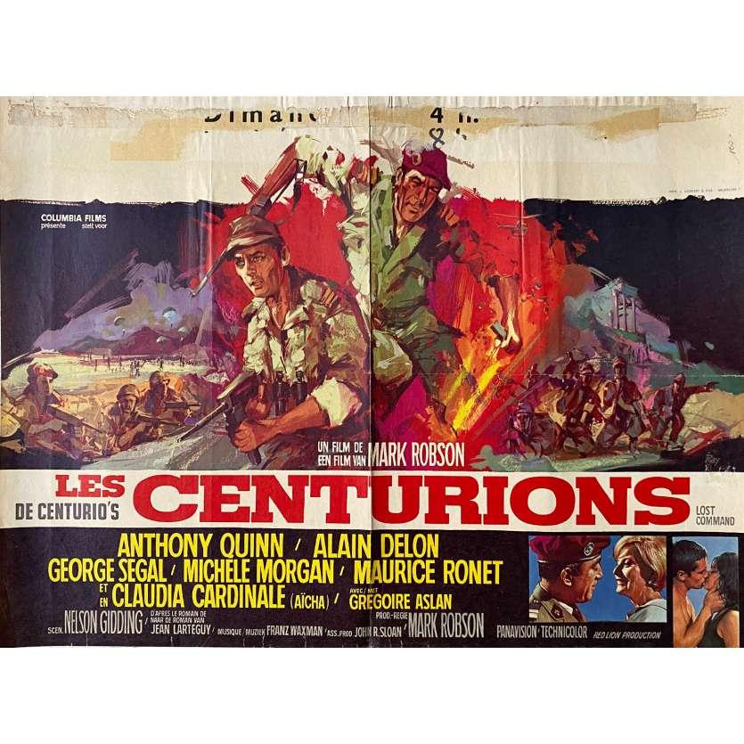 LES CENTURIONS Affiche de film - 60x80 cm. - 1966 - Anthony Quinn, Alain Delon, Mark Robson