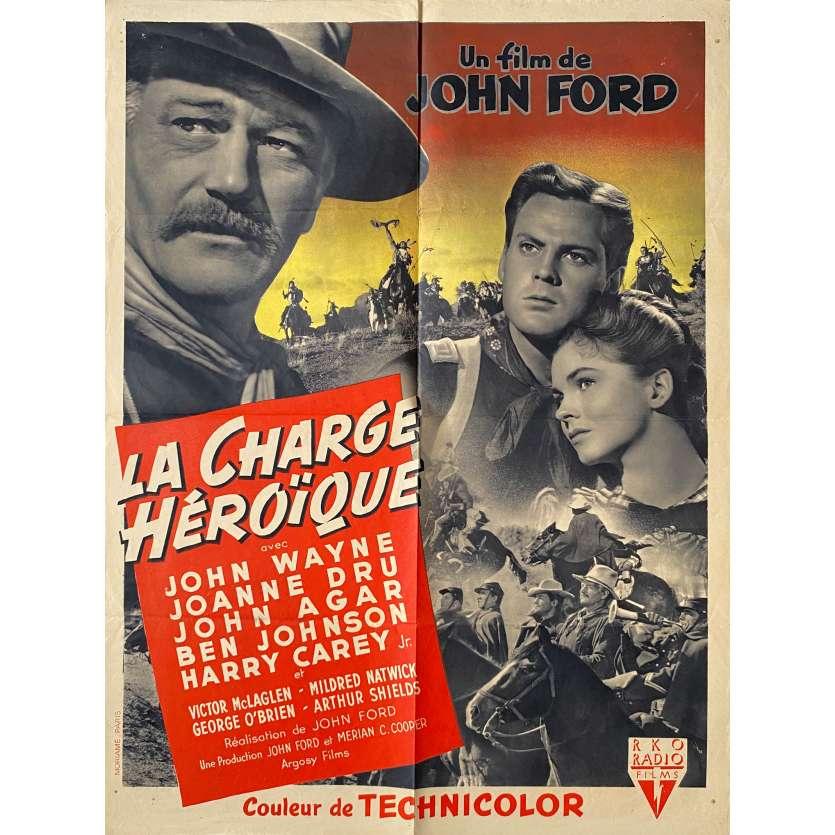 SHE WORE A YELLOW RIBBON Original Movie Poster - 23x32 in. - 1949 - John Ford, John Wayne
