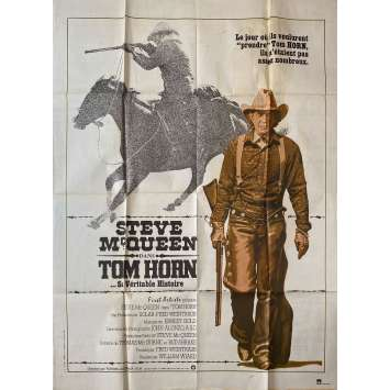 TOM HORN Affiche de film - 120x160 cm. - 1980 - Steve McQueen, William Wiard