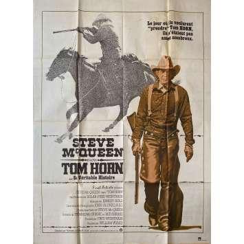 TOM HORN Original Movie Poster - 47x63 in. - 1980 - William Wiard, Steve McQueen