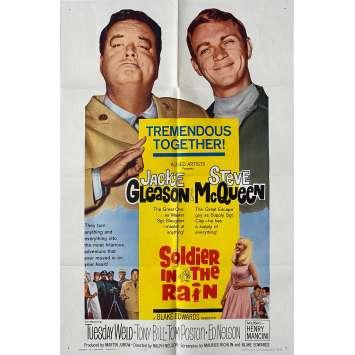 SOLDIER IN THE RAIN Original Movie Poster - 27x41 in. - 1963 - Ralph Nelson, Steve McQueen